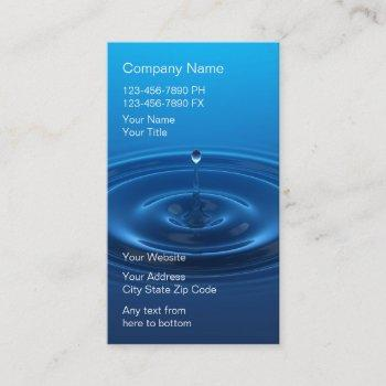 water filter system business cards