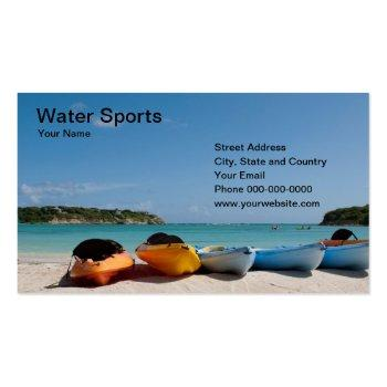 Small Water Sports Business Card Front View
