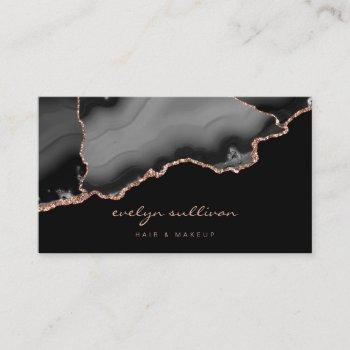 watercolor black agate business card