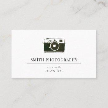 watercolor camera photography business card