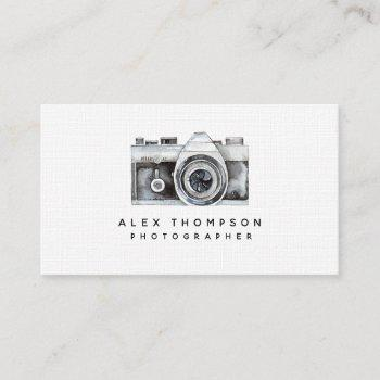 watercolor camera professional photographer business card