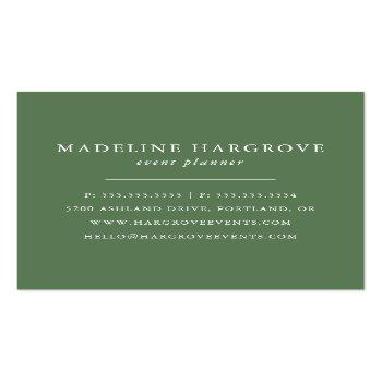 Small Watercolor Greenery | Square Business Card Back View