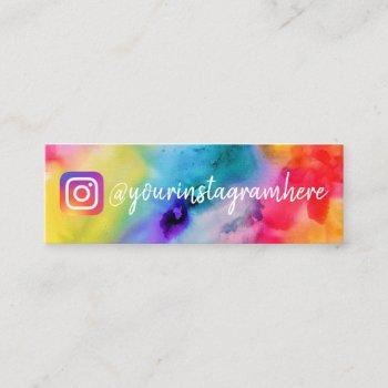 watercolor instagram social media mini business card