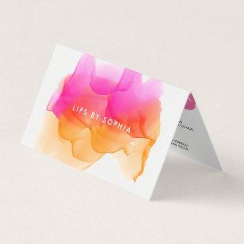 watercolor lip product distributor tips & tricks business card