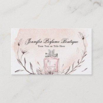 watercolor perfume floral custom essential oils business card