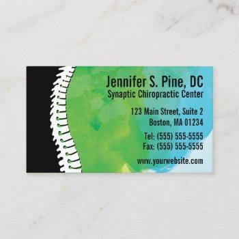 watercolor spine chiropractic business cards
