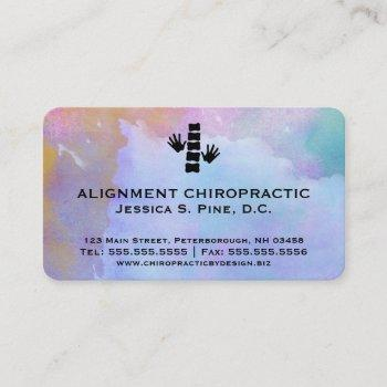 watercolor standard chiropractic business cards