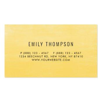 Small Watercolor Sunflowers And Eucalyptus Leaves Script Business Card Back View