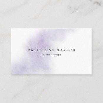 watercolor wash | purple business card