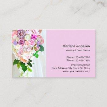wedding and event planner business card