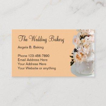 wedding cake bakery theme business card