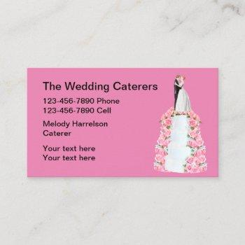 wedding catering tiered  cake business card