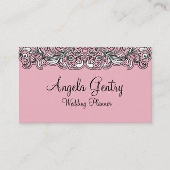 wedding coordinator planner business card