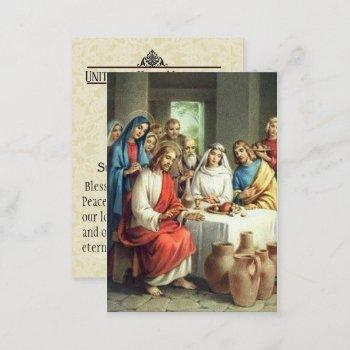 wedding favor bride groom catholic holy card