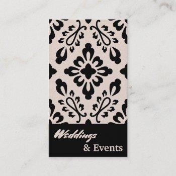 wedding planner. catering. wedding supplies business card