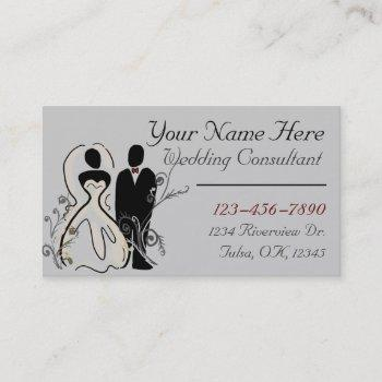 wedding planner customizable business card