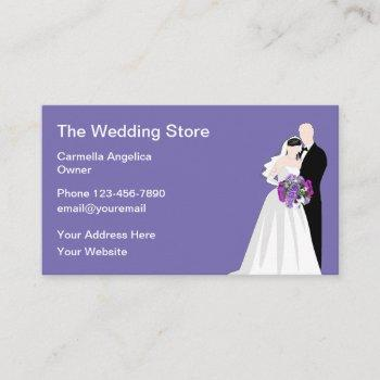wedding supply store business card