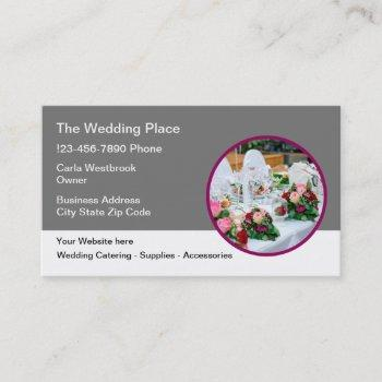 wedding theme modern business card