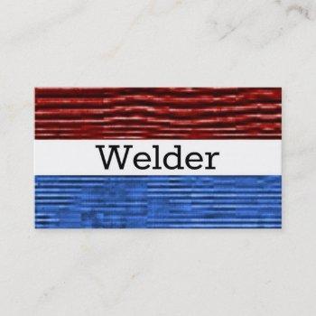 welder patriotic business card