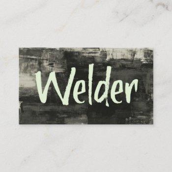 welder rustic business card