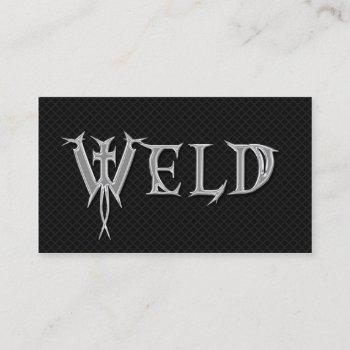 welder welding grunge professional business cards