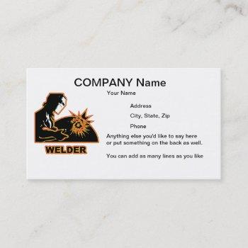welders business card
