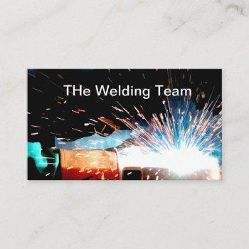 welding construction business card