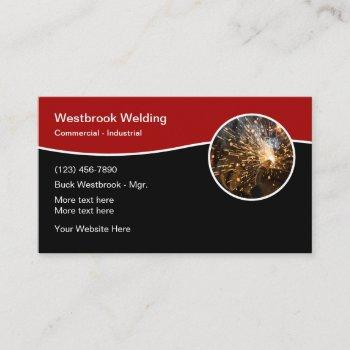 welding construction services business card