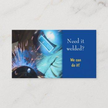 welding service connect with your customer business card