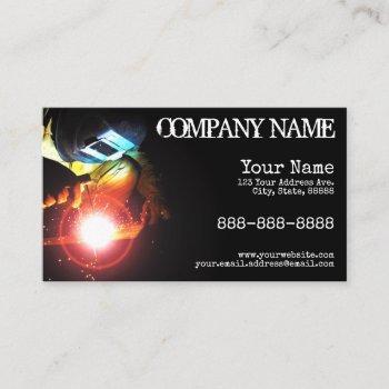 welding sparks business card