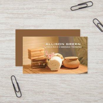 wellness aromatherapy spa salon massage therapist business card
