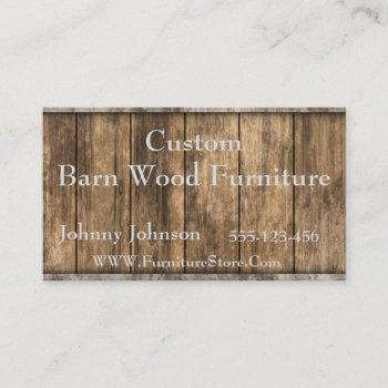 western barn wood template business card
