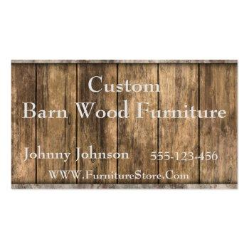 Small Western Barn Wood Template Business Card Front View