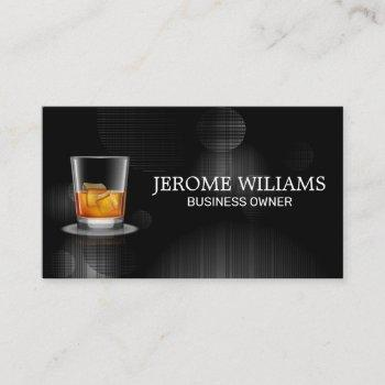 whisky glass | event planning business card