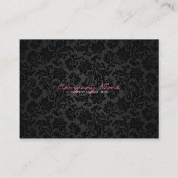 white & black vintage floral damasks business card