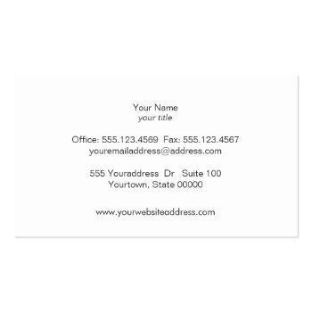 Small White Bokeh Glitter Modern Fashion & Beauty Business Card Back View
