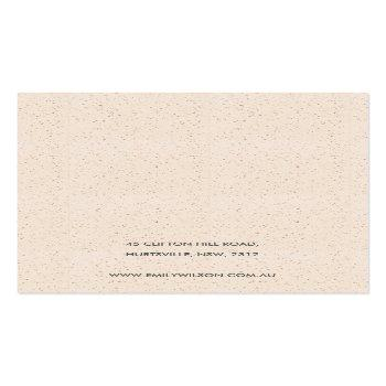 Small White Ceramic Texture Two Earring Display Logo Business Card Back View