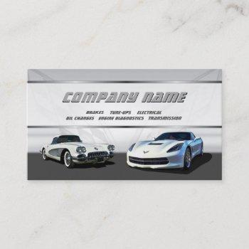 white corvettes business cards