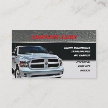 white dodge pickup business cards