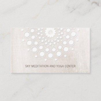white lotus mandala yoga and meditation instructor business card