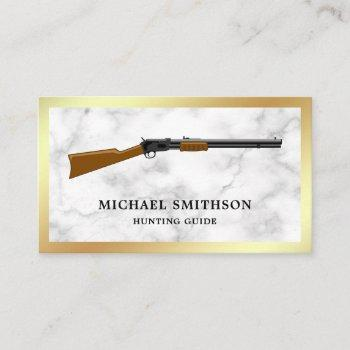 white marble shotgun rifle gun shop gunsmith business card