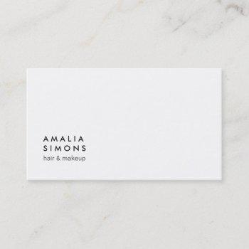 white minimalist business cards