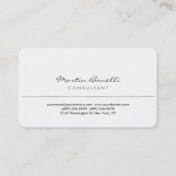 white rounded corner elegant consultant minimalist business card