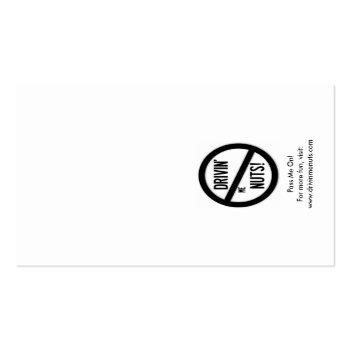 Small Why You Bad Park? - Poor English Parking Note Business Card Back View