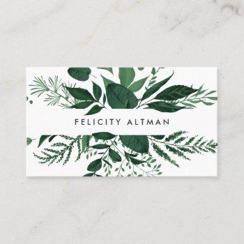 wild forest | botanical business card