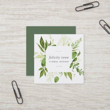 wild meadow | botanical frame square business card
