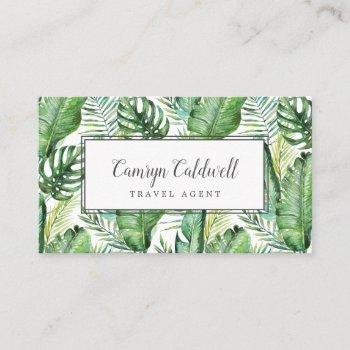 wild tropical palm business card