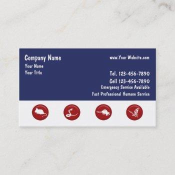 wildlife removal business cards
