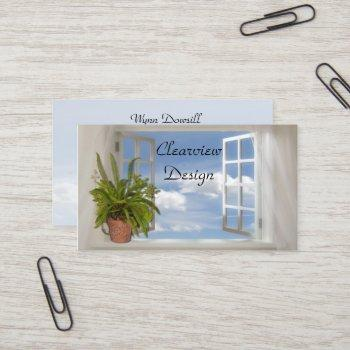 window business card