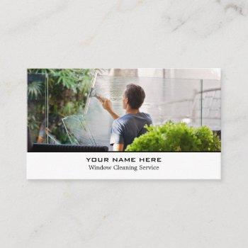 window cleaners, cleaning service business card